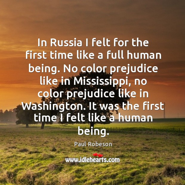It was the first time I felt like a human being. Image