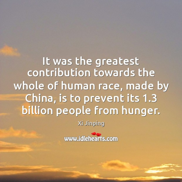 Image, It was the greatest contribution towards the whole of human race, made