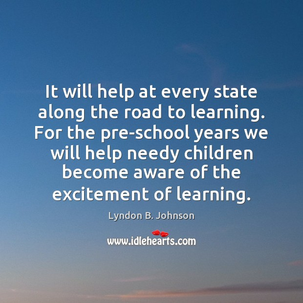 Image, It will help at every state along the road to learning. For