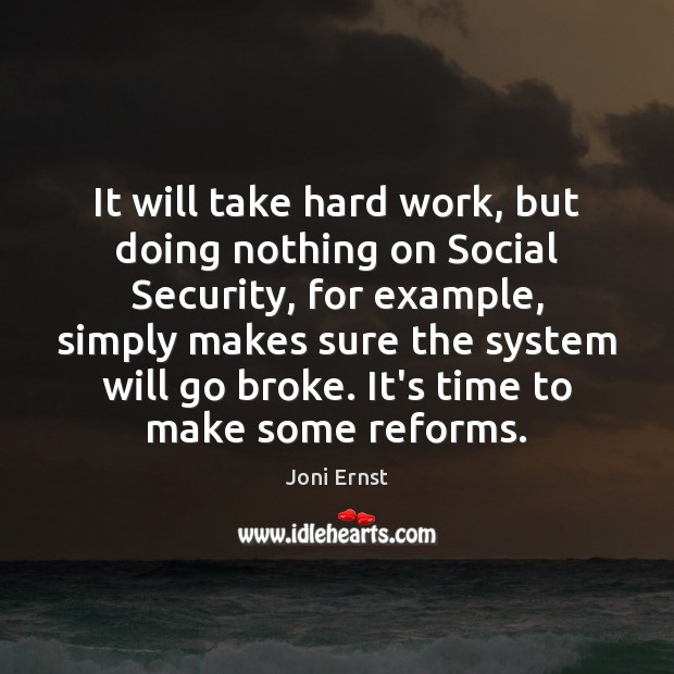 Image, It will take hard work, but doing nothing on Social Security, for