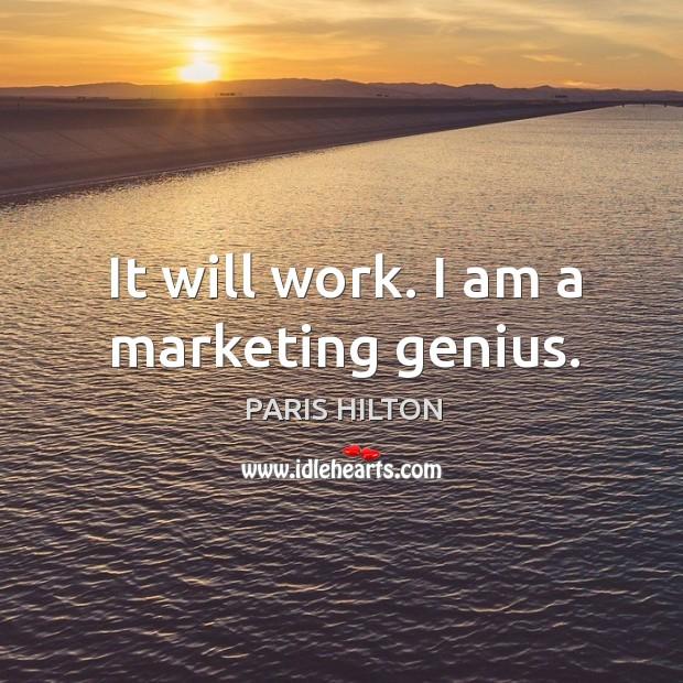 It will work. I am a marketing genius. Image