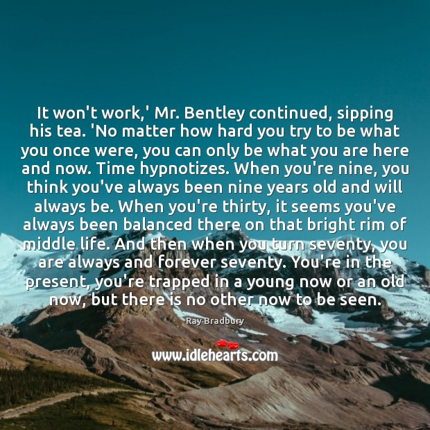Image, It won't work,' Mr. Bentley continued, sipping his tea. 'No matter