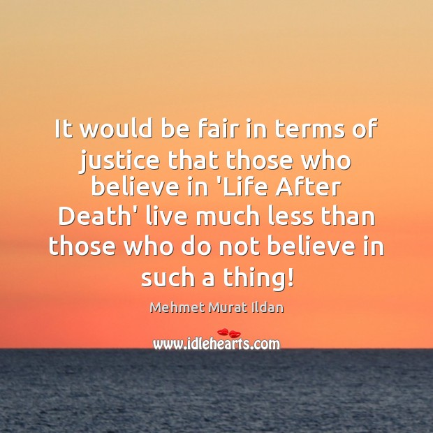 Image, It would be fair in terms of justice that those who believe