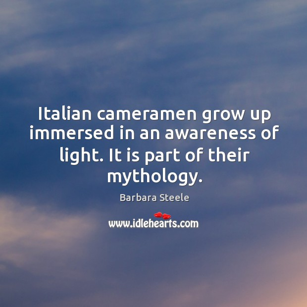 Italian cameramen grow up immersed in an awareness of light. It is part of their mythology. Image