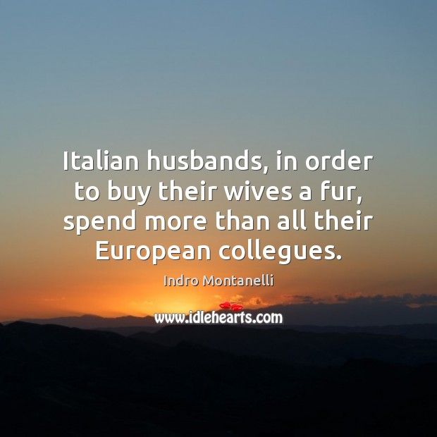 Italian husbands, in order to buy their wives a fur, spend more Image