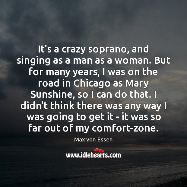 It's a crazy soprano, and singing as a man as a woman. Image