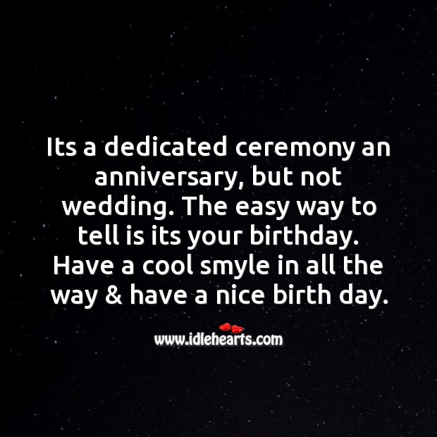 Its a dedicated ceremony an anniversary Image