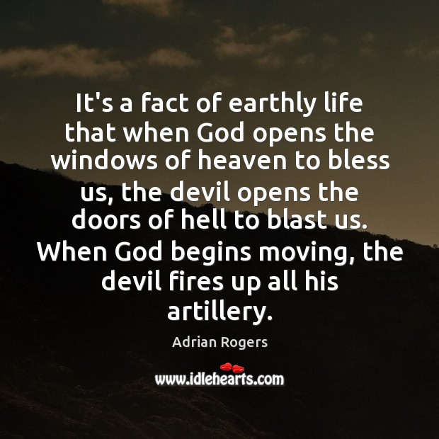 Image, It's a fact of earthly life that when God opens the windows