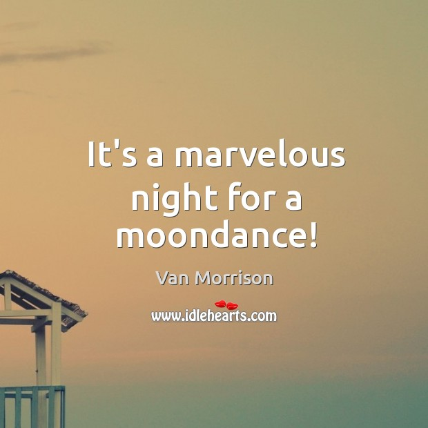 It's a marvelous night for a moondance! Image