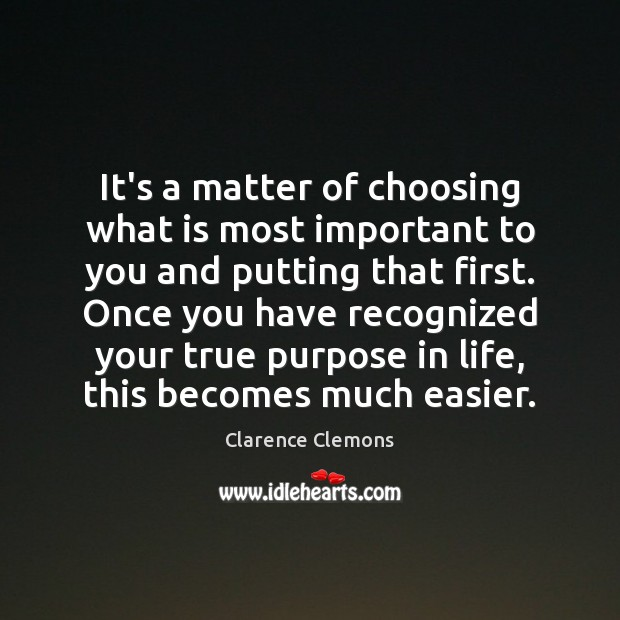 It's a matter of choosing what is most important to you and Image