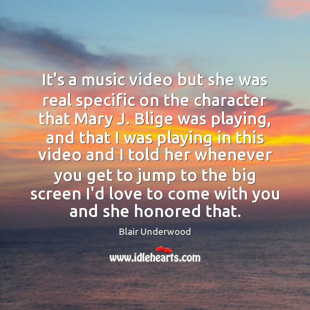 Image, It's a music video but she was real specific on the character