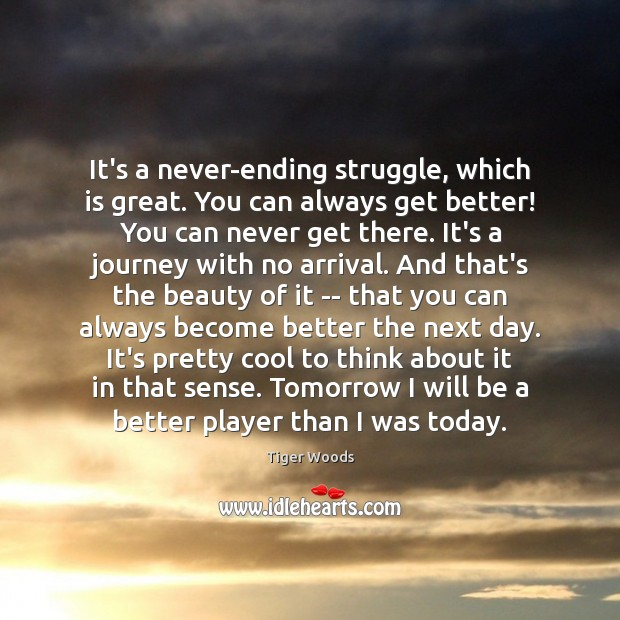 Image, It's a never-ending struggle, which is great. You can always get better!