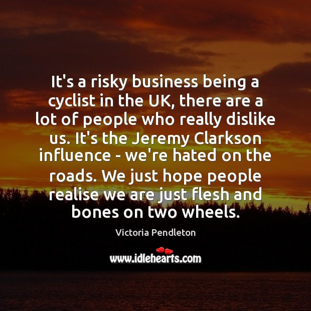 It's a risky business being a cyclist in the UK, there are Image