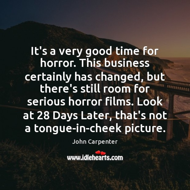 Image, It's a very good time for horror. This business certainly has changed,