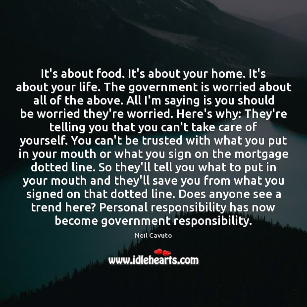It's about food. It's about your home. It's about your life. The Image