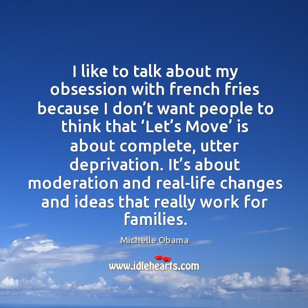 It's about moderation and real-life changes and ideas that really work for families. Image