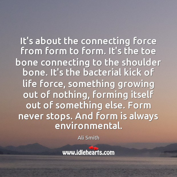 It's about the connecting force from form to form. It's the toe Image