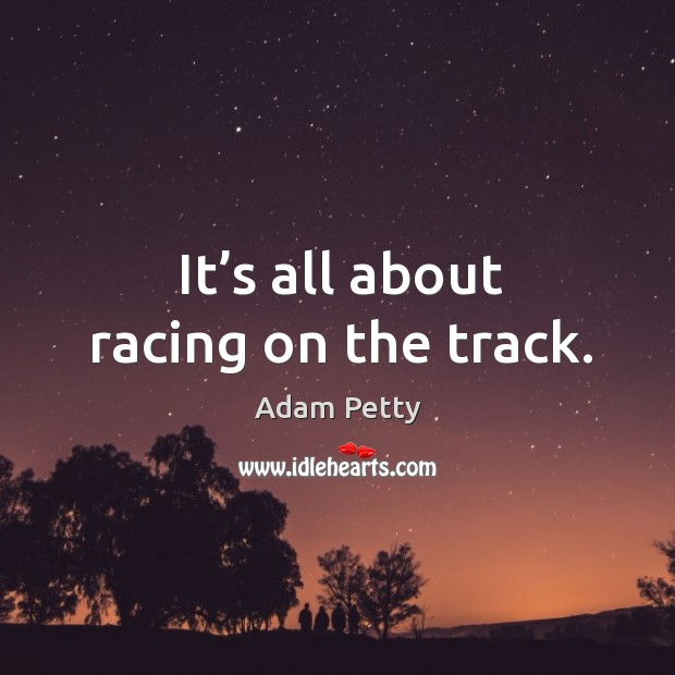 Image, It's all about racing on the track.