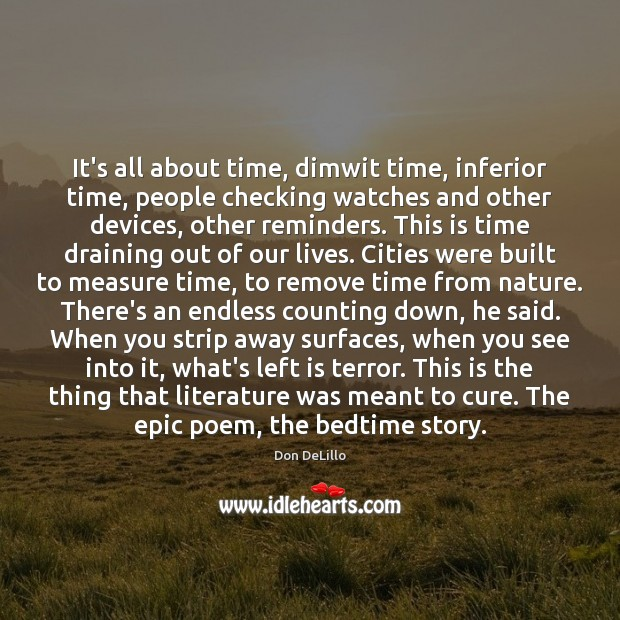 Image, It's all about time, dimwit time, inferior time, people checking watches and