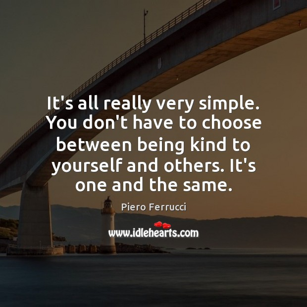 It's all really very simple. You don't have to choose between being Image