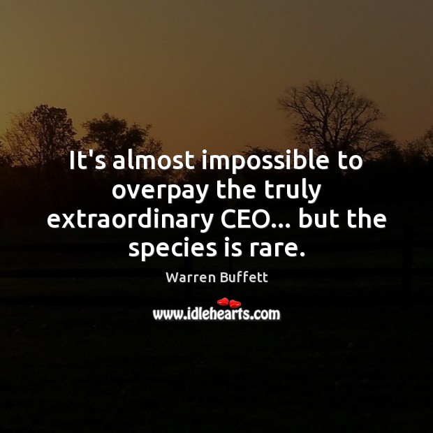 Image, It's almost impossible to overpay the truly extraordinary CEO… but the species is rare.
