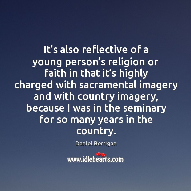 Image, It's also reflective of a young person's religion or faith in that it's highly charged with
