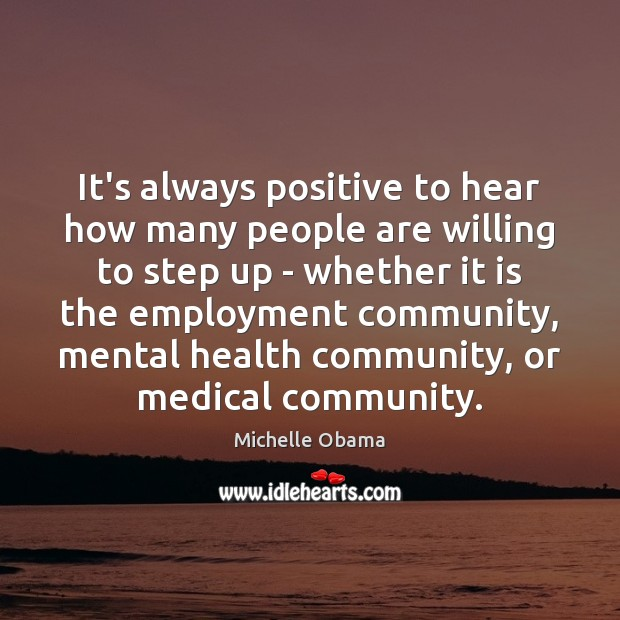 Image, It's always positive to hear how many people are willing to step