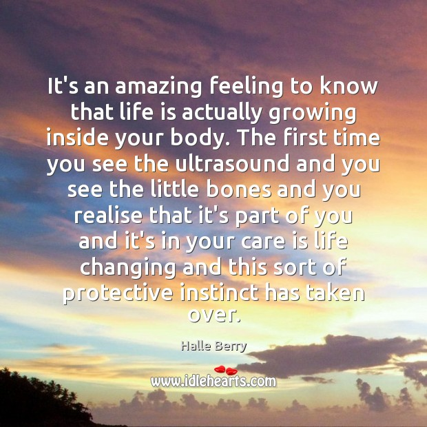 It's an amazing feeling to know that life is actually growing inside Image