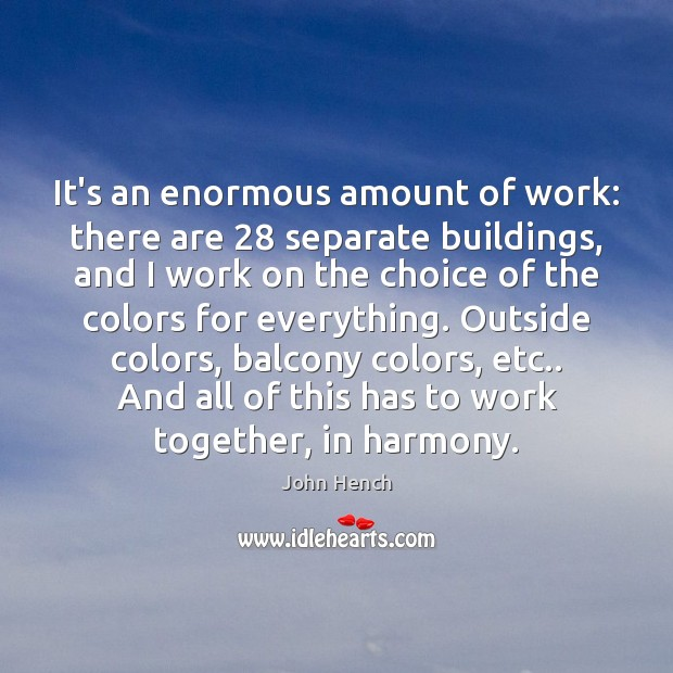 It's an enormous amount of work: there are 28 separate buildings, and I Image