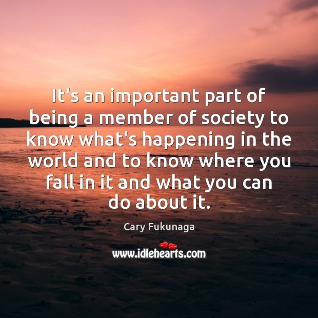 It's an important part of being a member of society to know Image