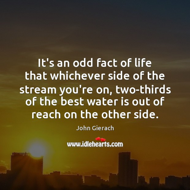Image, It's an odd fact of life that whichever side of the stream