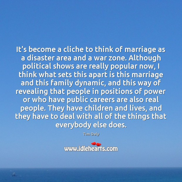 Image, It's become a cliche to think of marriage as a disaster area