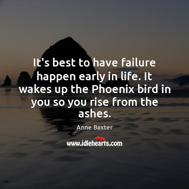 It's best to have failure happen early in life. It wakes up Failure Quotes Image