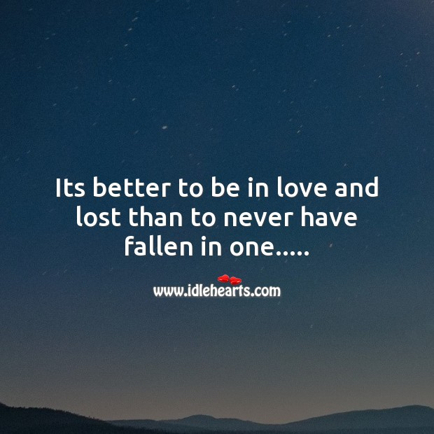 Image, Its better to be in love