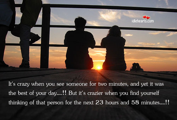 It's Crazy When You See Someone For Two Minutes, And Yet It Was The Best…