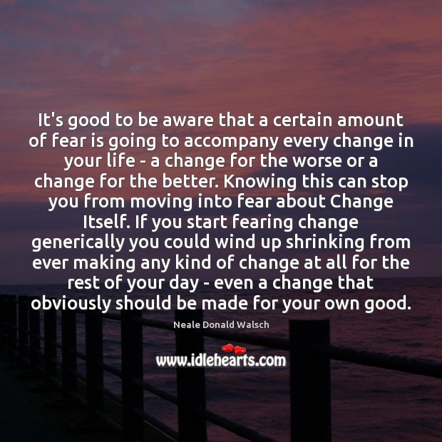 Image, It's good to be aware that a certain amount of fear is