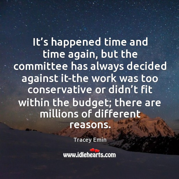 It's happened time and time again, but the committee has always decided against it Image