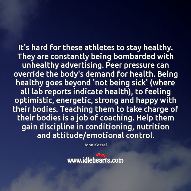 Image, It's hard for these athletes to stay healthy. They are constantly being