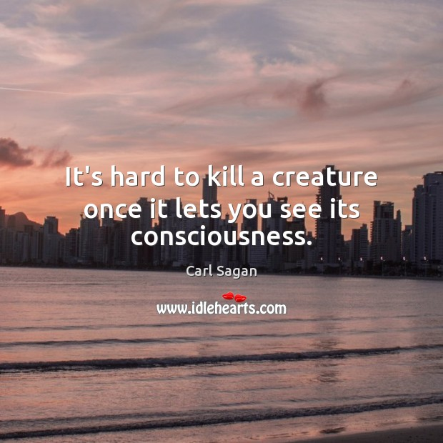 Image, It's hard to kill a creature once it lets you see its consciousness.