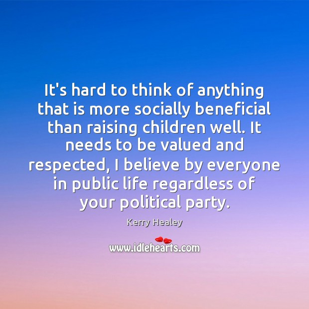 Image, It's hard to think of anything that is more socially beneficial than