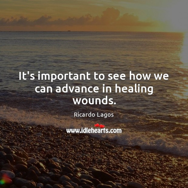 It's important to see how we can advance in healing wounds. Image