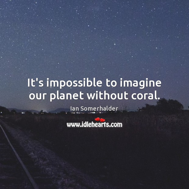 Image, It's impossible to imagine our planet without coral.