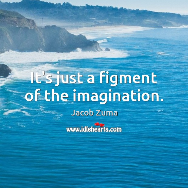 It's just a figment of the imagination. Jacob Zuma Picture Quote