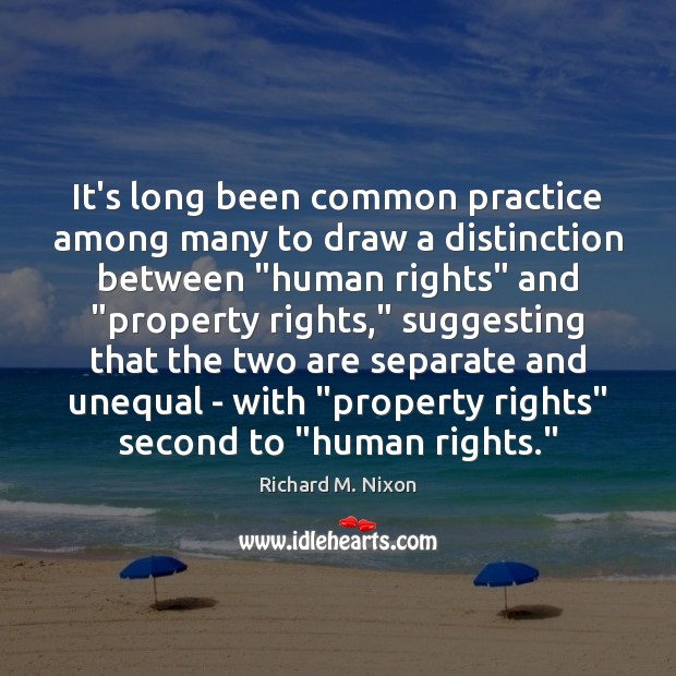 """It's long been common practice among many to draw a distinction between """" Image"""