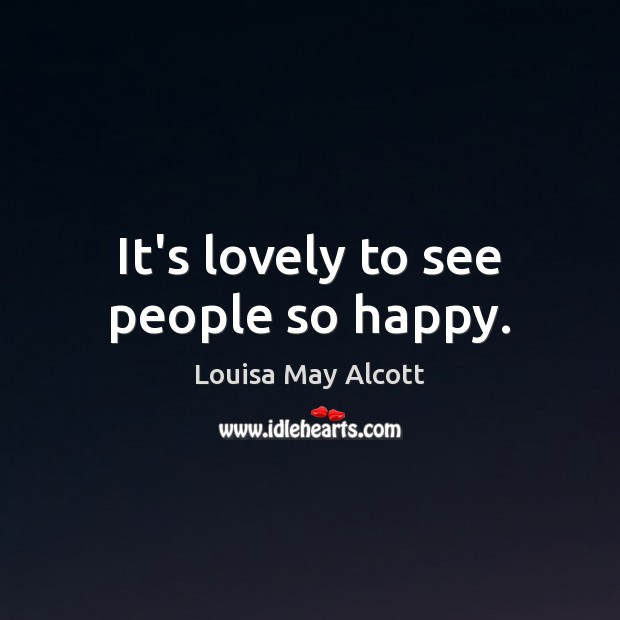 It's lovely to see people so happy. Image