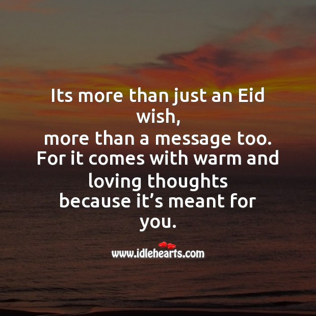 Its more than just an eid wish Eid Messages Image