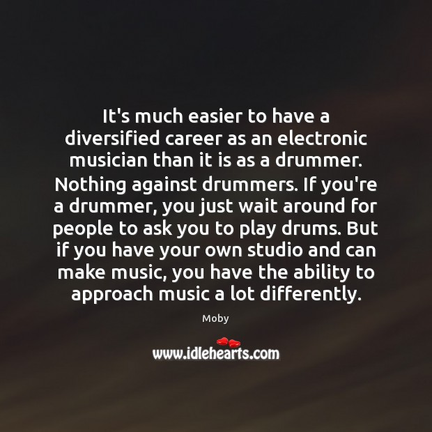 It's much easier to have a diversified career as an electronic musician Image