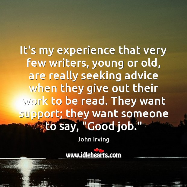 It's my experience that very few writers, young or old, are really Image
