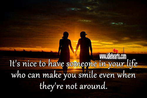 It's nice to have someone in your life who can make you smile Relationship Advice Image