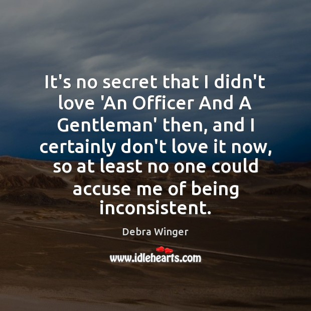 It's no secret that I didn't love 'An Officer And A Gentleman' Image